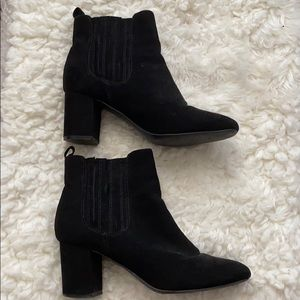 Black forever 21 booties with small heel